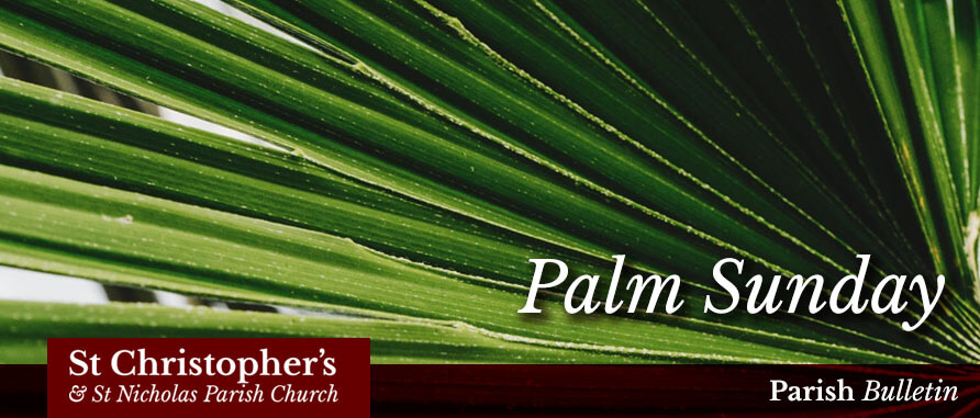 Palm Sunday 2019 – Parish Bulletin